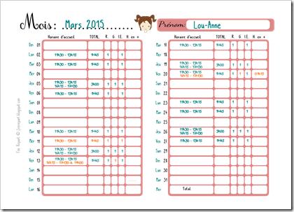 Télécharger pmi modele de tableau de planning d enfants gardes gratuit