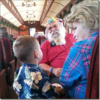 Santa on the Train