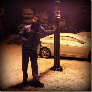 Snow in Gwangyang 1