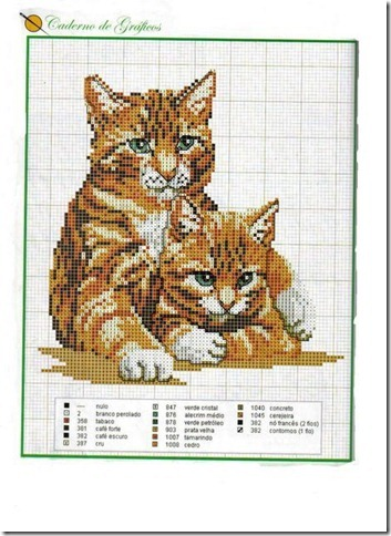gatos-esquemas-ponto-cruz-motivos-cats-cross stitch-102