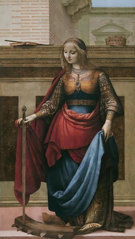 Fernando Yáñez de la Almedina Santa Catalina de Alejandría Museo del Prado