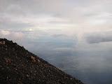 Java's north coast in the distance, seen from Slamet (Daniel Quinn, April 2010)
