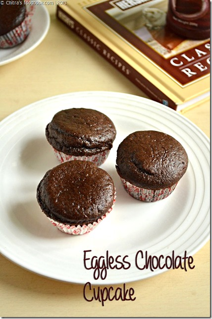 Chocolate cupcake eggless