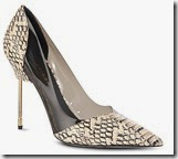 Kurt Geiger Embossed Leather Court Shoe