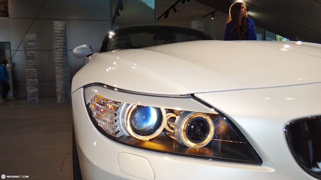 white bmw headlight in Munich, Bayern, Germany