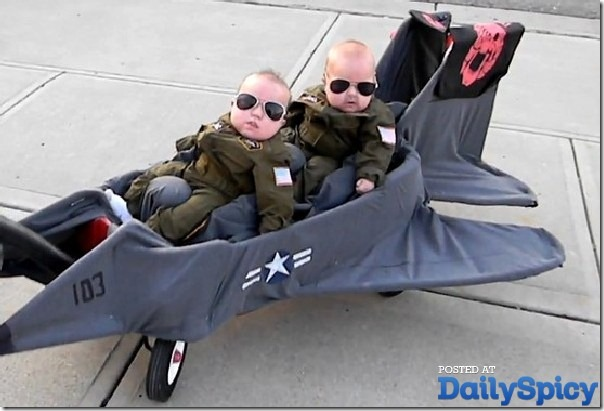 disfraz de avion para cochecito bebé