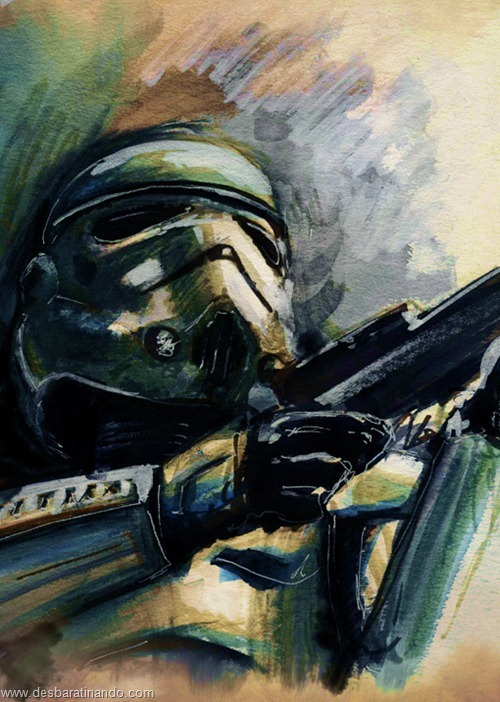 pinturas star wars aquarela desbaratinando  (8)