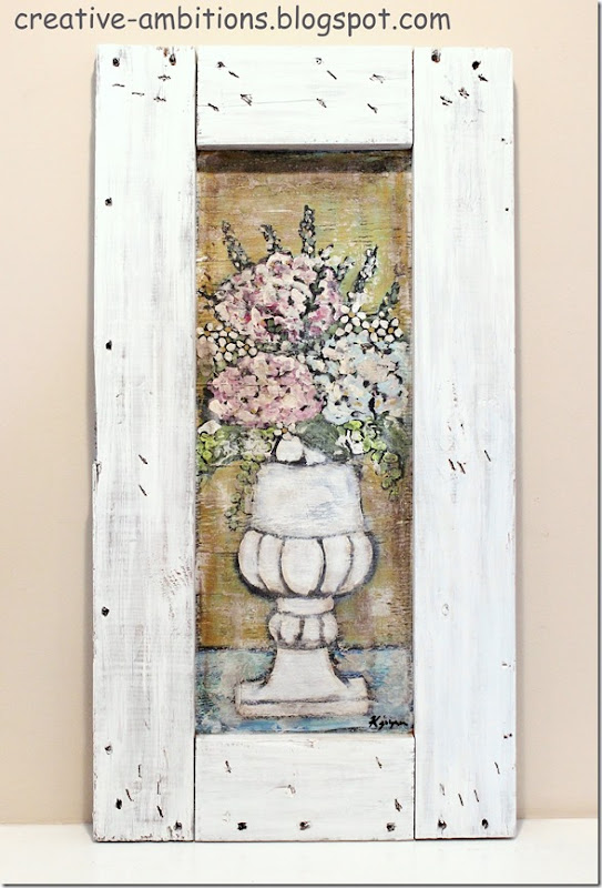 Flowers In Urn  Crate Painting