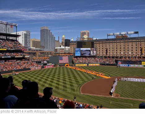'Baltimore Orioles Opening Day 2014' photo (c) 2014, Keith Allison - license: https://creativecommons.org/licenses/by-sa/2.0/