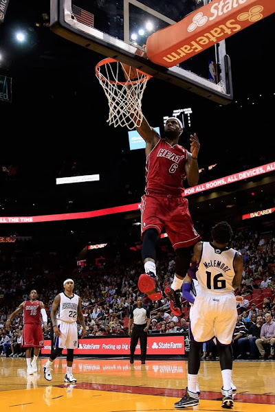 lebron james nba 131220 mia vs sac 01 King James Posterizes Ben McLemore in Nike Lebron 11 Away