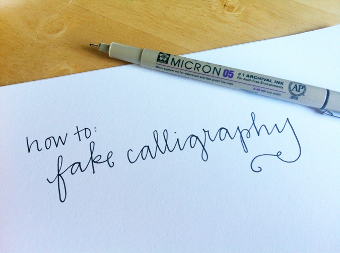 Wedding diy how to fake calligraphy shop nyc daily