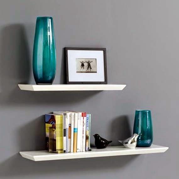 White Floating Wall Shelves Design Floating Wall Shelf