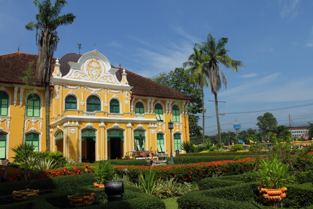 The Chao Phraya Abhaibhubate Hospital - a beautiful colonial building in Prachin Buri, Thailand