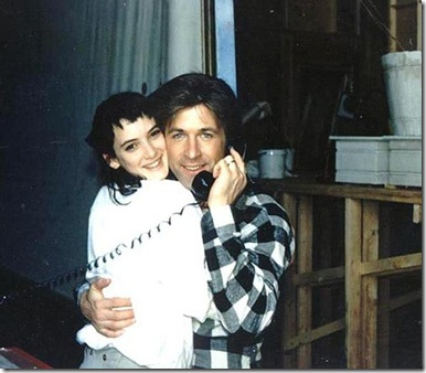 Winona-Ryder-and-Alec-Baldwin-on-set-of-Beetlejuice