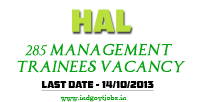 HAL Management Trainee 2013