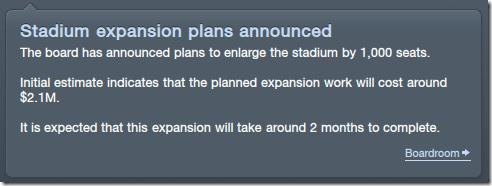 Stadium extension