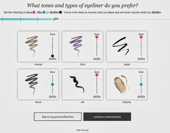 Wantable Eyeliner Preferences