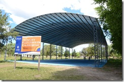 Avanza la obra del polideportivo en Santa Teresita
