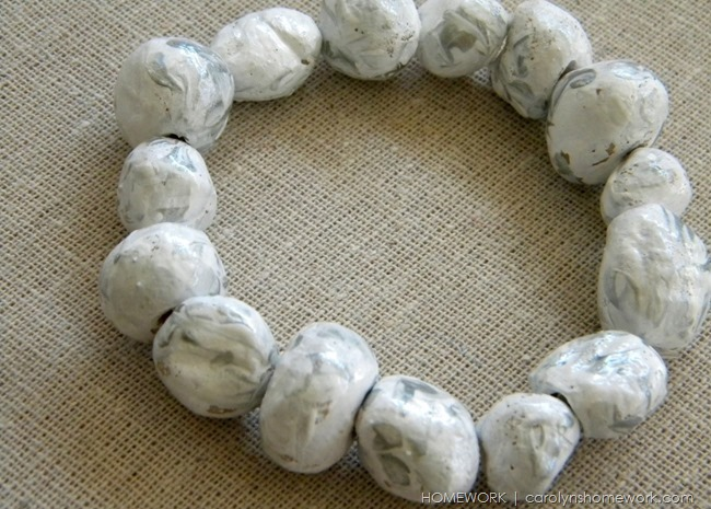 Salt Dough Beads via homework | carolynshomework.com