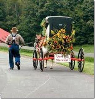 coche de novios amish