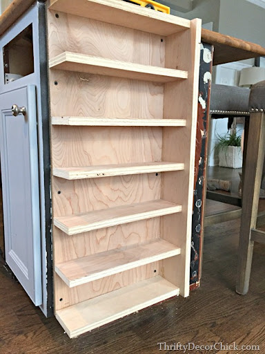 DIY Wine Rack (Island Storage) from Thrifty Decor Chick