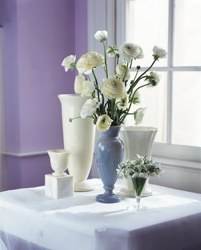 A selection of trumpet vases. (Martha Stewart Living)