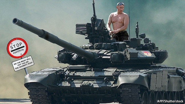 CC Photo Google Image Search Source is www bandwerkplus nl  Subject is putin tank