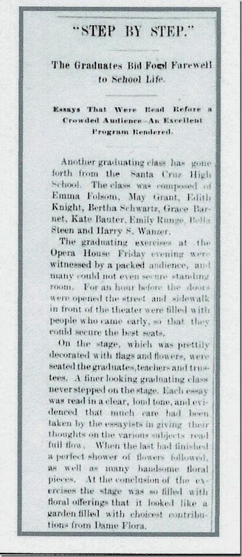 Bertha Schwartz Graduation