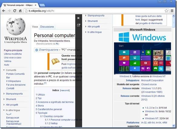 INTAB due pagine web aperte nella stessa scheda Chrome