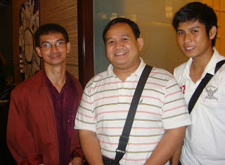 Sir Ervin and Lucky together with Kasamaka CBR Director Gerry Mariano