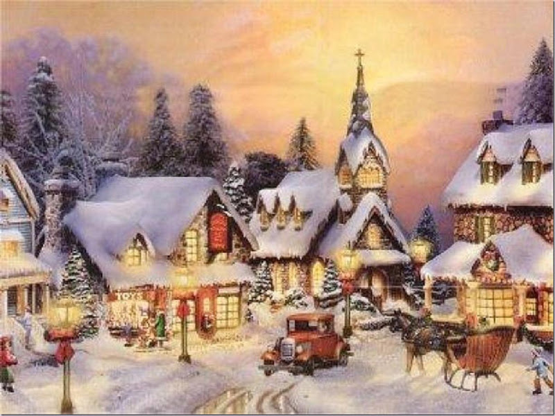 Snowy Village Christmas