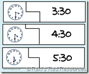 Telling Time Self Correcting Puzzle - Math Reinforcement Center
