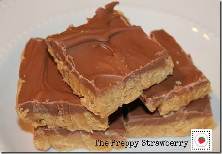 The Preppy Strawberry Chocolate Peanut Butter Bars Recipe