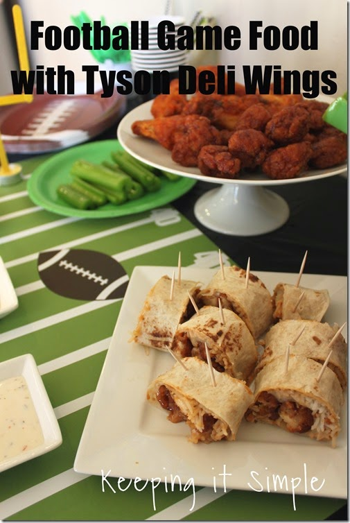 #ad Football-Game-Food-Ideas-Tyson-Wings #gametimehero
