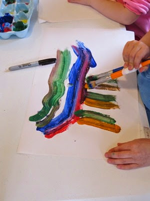 Art with Lines for Preschool from Teach Preschool