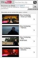 Screenshot of Clip Music Vidéo