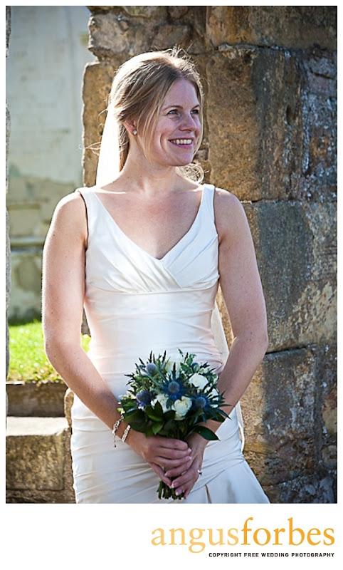 happy bride Scottish wedding Photographer Dundee_046