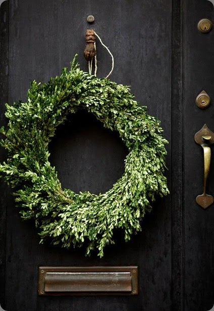 wreath nicole-franzen photo and gardenista wreath-on-door