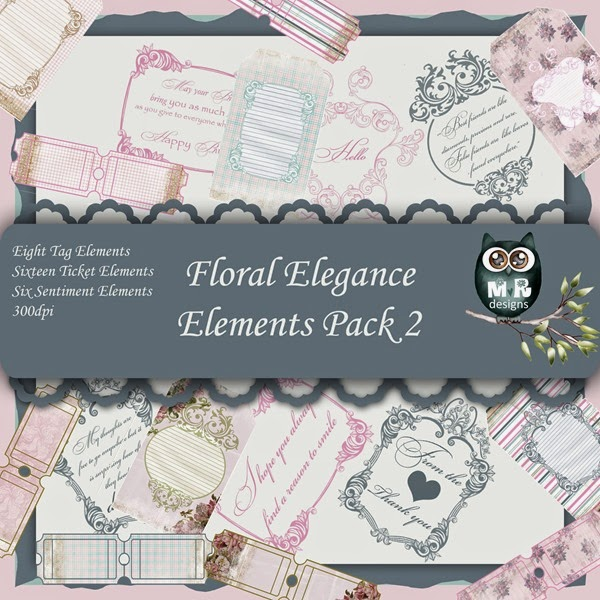 Floral Elegance Elements Front Sheet Pack 2