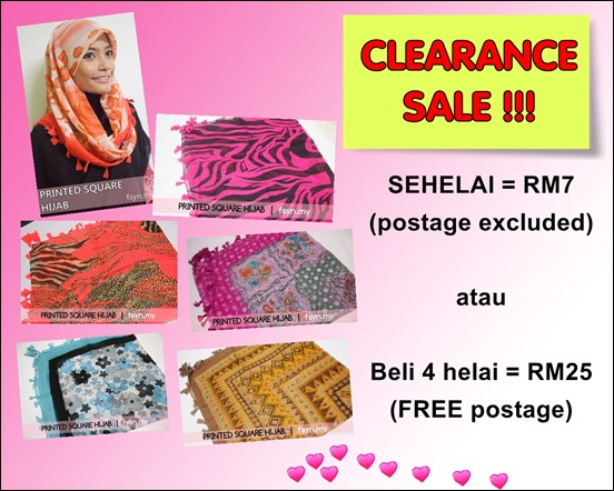 SALE PRINTED SQUARE HIJAB