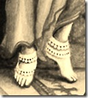 Krishna's lotus feet