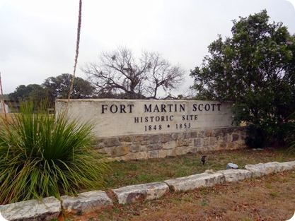 Fort Martin Scott sign