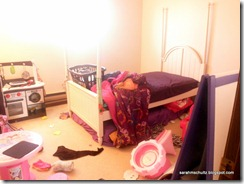 Messy Children Bedroom- Before revamp