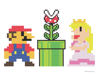 Free Mario Cross Stitch Pattern