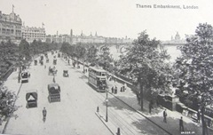 vintage postcards england thames embankment