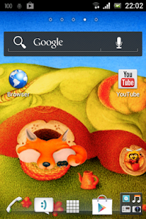 Fox Cartoon Art Live Wallpaper - screenshot