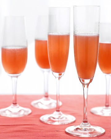Pear and Cranberry Bellini: These pretty drinks pair well at holiday gatherings with elegant bites, great friends, and good cheer.