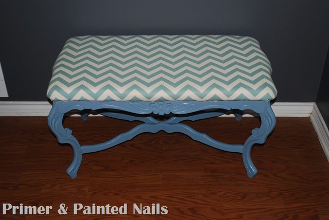 Curb Coffee Table After - Primer & Painted Nails