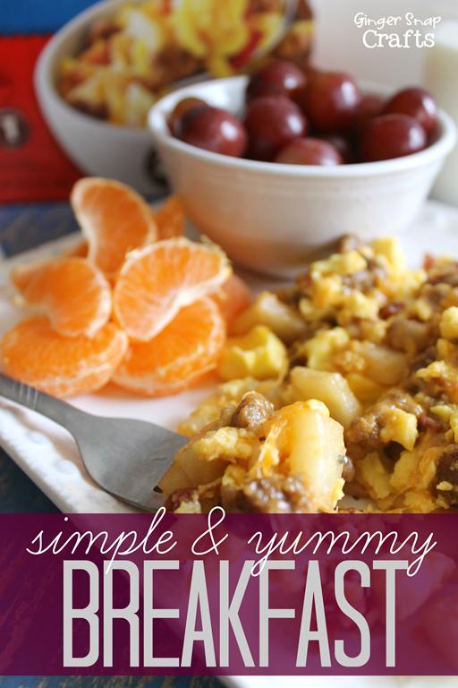 Simple & Yummy Breakfast Idea at GingerSnapCrafts.com #pmedia #breakfastdelight #sponsored