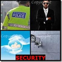SECURITY- 4 Pics 1 Word Answers 3 Letters